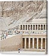 Temple Of Hatsepsut In Egypt Canvas Print