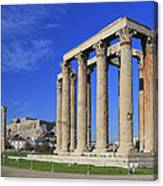 Temple Of Olympian Zeus Athens Greece Canvas Print