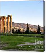 Temple Of Olympian Zeus. Athens Canvas Print