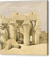 Temple Of Sobek And Haroeris At Kom Ombo Canvas Print