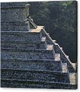 Temple Of The Inscriptions. Mexico Canvas Print
