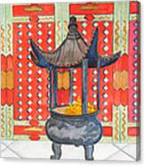 Temple Offerings Canvas Print