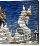 Temple Reflection Canvas Print