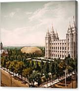 Temple Square Salt Lake City 1899 Canvas Print