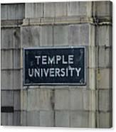 Temple U Canvas Print