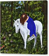Temptress In The Forest Canvas Print