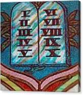 Ten Commandments Glass Canvas Print