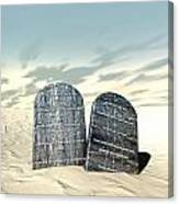 Ten Commandments Standing In The Desert Canvas Print