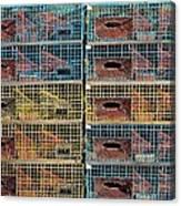 Ten Lobster Traps Canvas Print