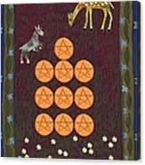 Ten Of Pentacles Canvas Print