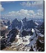 T-703502-ten Peaks From Summit Of Mt. Lefroy Canvas Print