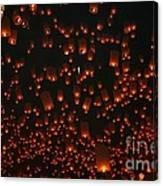 Ten Thousand Lantern Launch Canvas Print