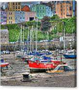 Tenby Harbour In Summer 4 Canvas Print