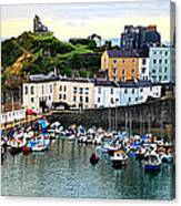 Tenby Harbour Panorama Canvas Print