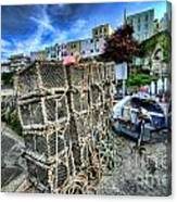 Tenby Lobster Traps Canvas Print
