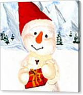 Tender Snowman Canvas Print