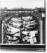 Tenement Housing Laundry Canvas Print