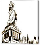 Tenement Liberty Canvas Print