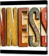 Tennessee Antique Letterpress Printing Blocks Canvas Print