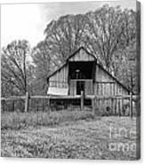 Tennessee Barn Bw Canvas Print