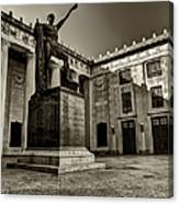 Tennessee War Memorial Black And White Canvas Print