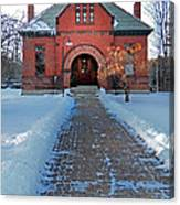 Tenney Memorial Library Newbury Vermont Canvas Print