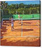 Tennis Practice Canvas Print