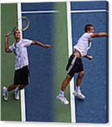 Tennis Serve By Mikhail Youzhny Canvas Print