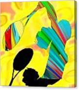 Tennis Shadow Canvas Print