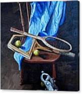 Tennis Still Life Canvas Print