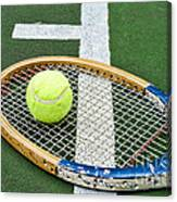 Tennis - Wooden Tennis Racquet Canvas Print