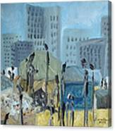 Tent City Homeless Canvas Print