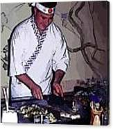 Teppanyaki Cooking  Canvas Print