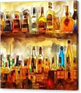 Tequila Bar At Aquila Restayrant Canvas Print