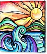 Tequila Sunrise #aceo #artcard #art Canvas Print