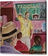 Tequilla Tasting At Puerto Vallarta Mexico Canvas Print