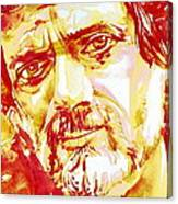 Terence Mckenna Watercolor Portrait.2 Canvas Print