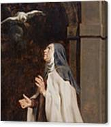 Teresa Of Avilas Vision Of A Dove Canvas Print