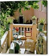 Terrace At A Guest House At Waterloo Canvas Print