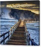 Terrace Boardwalk Canvas Print