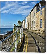 Terraced Cottages At Mousehole Canvas Print