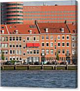 Terraced Houses In Rotterdam City Centre Canvas Print