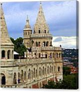 Terraces And Towers Of Fishermans Bastion Canvas Print