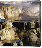 Terraces, Mammoth Hot Springs Canvas Print