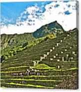 Terraces Of Machu Picchu-peru Canvas Print