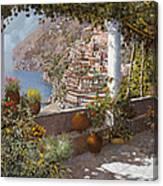 terrazza a Positano Canvas Print