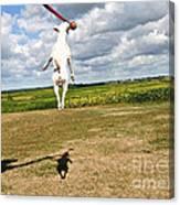Terrier Ball Ballet Canvas Print