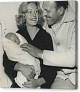 Terry Thomas Flies Here To See His Baby Canvas Print