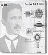 Tesla A / C Current Patent Art 1888 Canvas Print