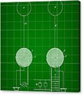Tesla Electric Transmission Patent 1900 - Green Canvas Print